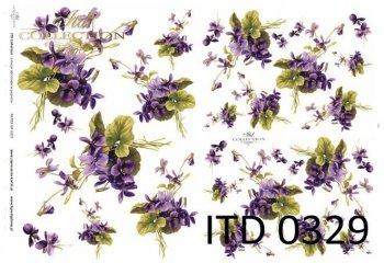 Decoupage paper ITD D0329