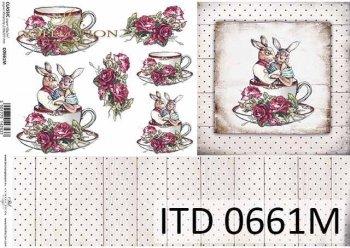 Decoupage paper ITD D0661M