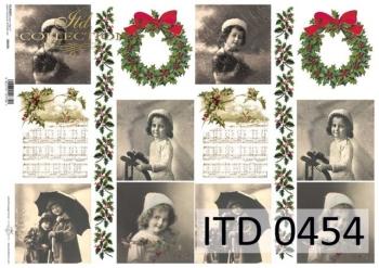 Decoupage paper ITD D0454M