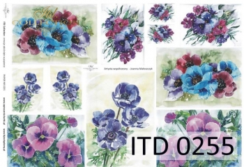Decoupage paper ITD D0255