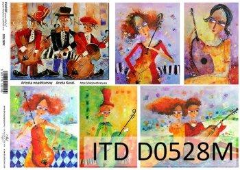 Decoupage paper ITD D0528M