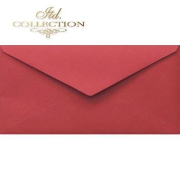 .Envelope KP06.17 110x220 red