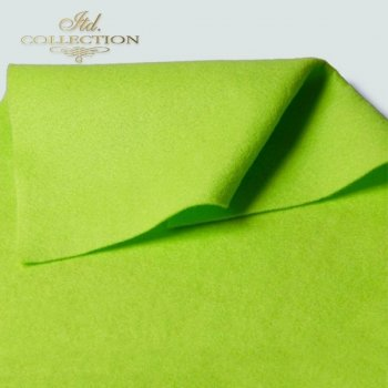 decorative felt light green F003