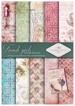 Scrapbooking papers SCRAP-015 ''French girls''