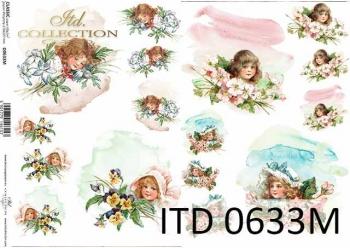 Decoupage paper ITD D0633M