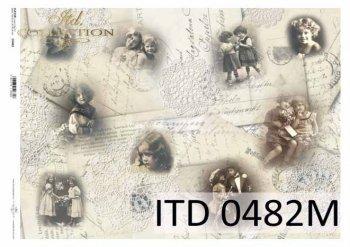 Decoupage paper ITD D0482M