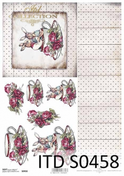 Decoupage paper Soft ITD S0458