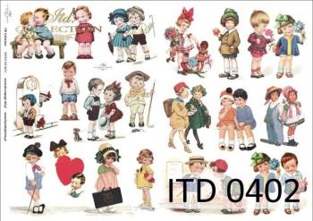 Papier decoupage ITD D0402