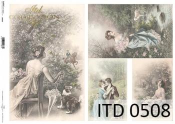 Papier decoupage ITD D0508
