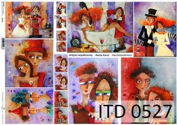 Papier decoupage ITD D0527