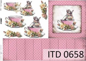 Papier decoupage ITD D0658