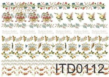 Papier decoupage ITD D0112M