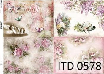 Papier decoupage ITD D0578