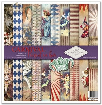 Zestaw do scrapbookingu SLS-021 Carnival - Pierrot in love