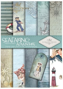 Papier do scrapbookingu SCRAP-047 ''Seafaring adventure''