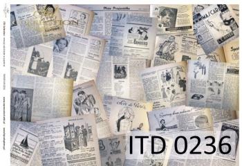 Papier decoupage ITD D0236