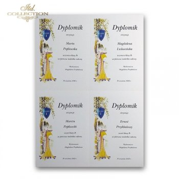 dyplom DS0121 - 4 x A6 format