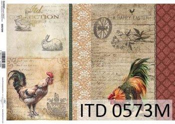 Papier decoupage ITD D0573M