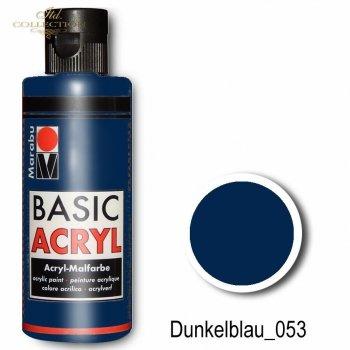 Farba akrylowa Basic Acryl 80 ml Dunkelblau 053