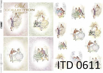 Papier decoupage ITD D0611