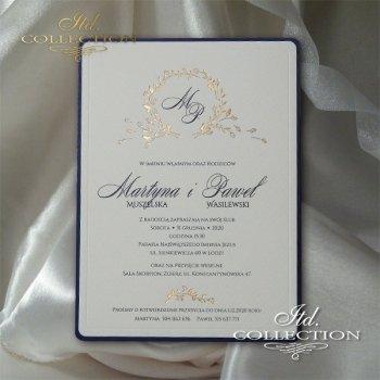 Zaproszenia ślubne / zaproszenie 2070
