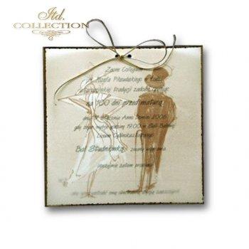 Zaproszenia  na studniówkę ZS_1277 kalka z kopertą
