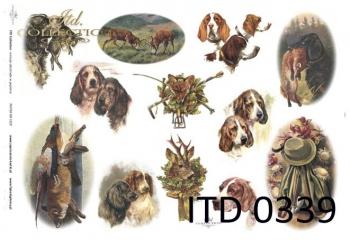 Papier decoupage ITD D0339
