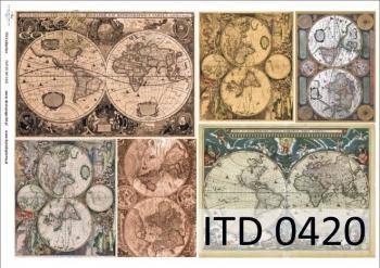 Papier decoupage ITD D0420
