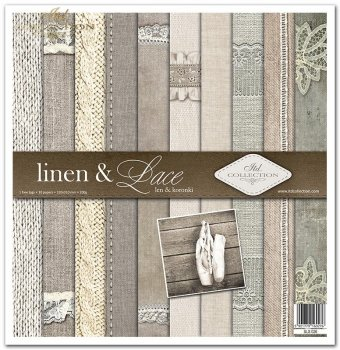 Zestaw do scrapbookingu SLS-026 linen & lace