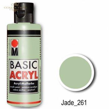 Farba akrylowa Basic Acryl 80 ml Jade 261