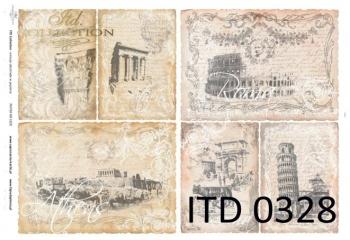 Papier decoupage ITD D0328