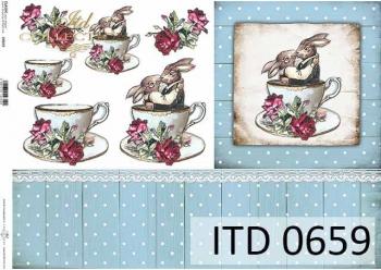 Papier decoupage ITD D0659