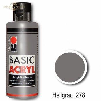 Farba akrylowa Basic Acryl 80 ml Hellgrau 278