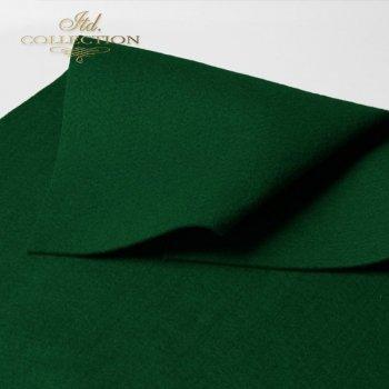 Filc dekoracyjny miękki ciemno zielony F002
