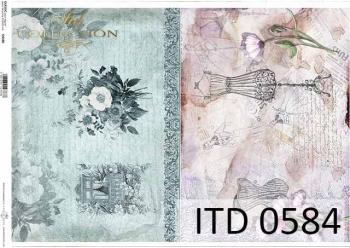 Papier decoupage ITD D0584