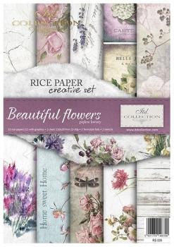 Zestaw kreatywny ITD RS009 Piękne kwiaty