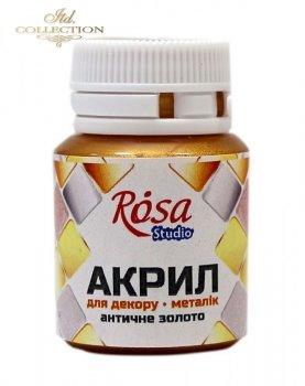 Farba akrylowa ROSA 20 ml antyczne złoto 51