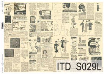 Papier decoupage SOFT ITD S0029L