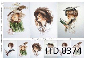 Papier decoupage ITD D0374M
