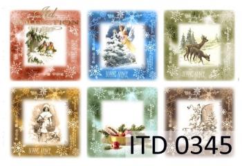 Papier decoupage ITD D0345
