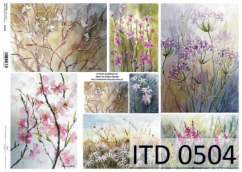 Papier decoupage ITD D0504