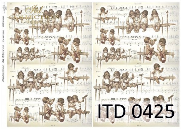 бумага для декупажа классическая D0425