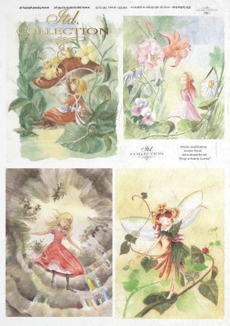 papier-ryżowy-decoupage-elf-elfy-Alicja-w-krainie-czarów-Joanna-Pasek-bajki-R0129