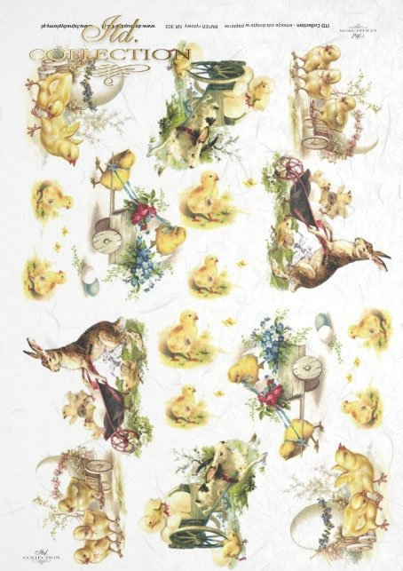 Easter, chickens, hares, rabbits, flowers, spring, eggs, Easter eggs, R303