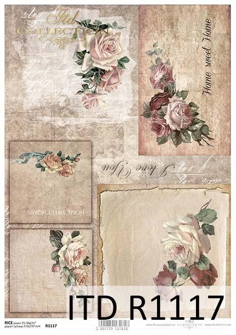 papier decoupage róże, bukiet dla...*Paper decoupage roses, bouquet for ...