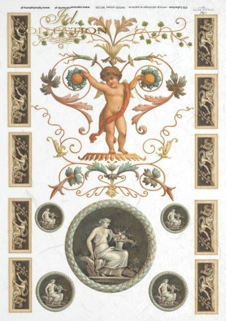medallion, medallions, antique, flower, flowers, decoration, decorations, ornament, ornaments, R026