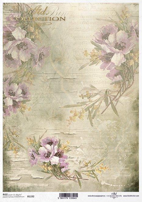 Decoupage Papier Wildblumen*flores silvestres de papel decoupage*Декупаж бумаги полевых цветов