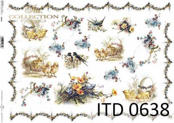 бумага для декупажа классическая D0638