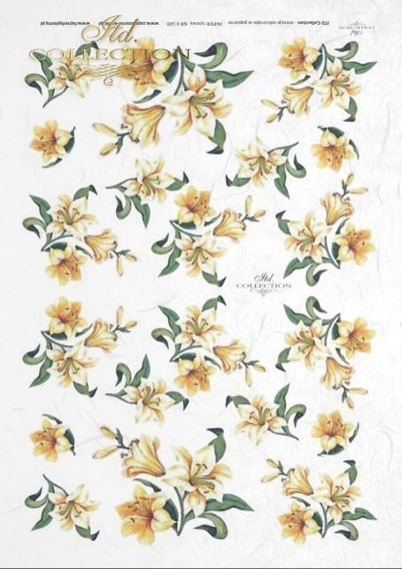decoupage-rice-paper-lilie-lilies-flowers-meadow-garden-R0148