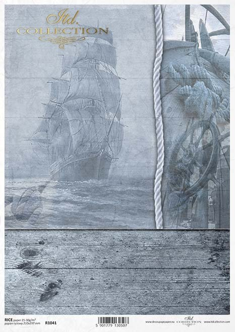 Papel de arroz-barco en la niebla*Rýžový papír loď v mlze*Reispapierschiff im Nebel